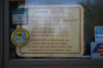 Store hours in Circle, Alaska